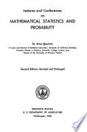 Lectures and Conferences on Mathematical Statistics and Probability