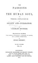 The Passions of the Human Soul and Their Influence on Society and Civilization