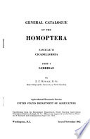 General Catalogue of the Homoptera