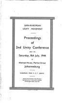 Proceedings of the     Unity Conference