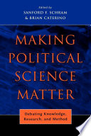Making Political Science Matter