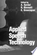 Applied Speech Technology Book PDF