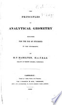 The Principles of Analytical Geometry ...