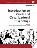 Handbook Of Work And Organizational Psychology Introduction To Work And Organizational Psychology Book PDF