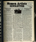 Women Artists Newsletter Book