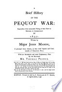 A Brief History Of The Pequot War Book PDF