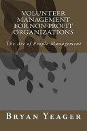 Volunteer Management For Non Profit Organizations Book PDF