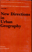 New Directions in Urban Geography