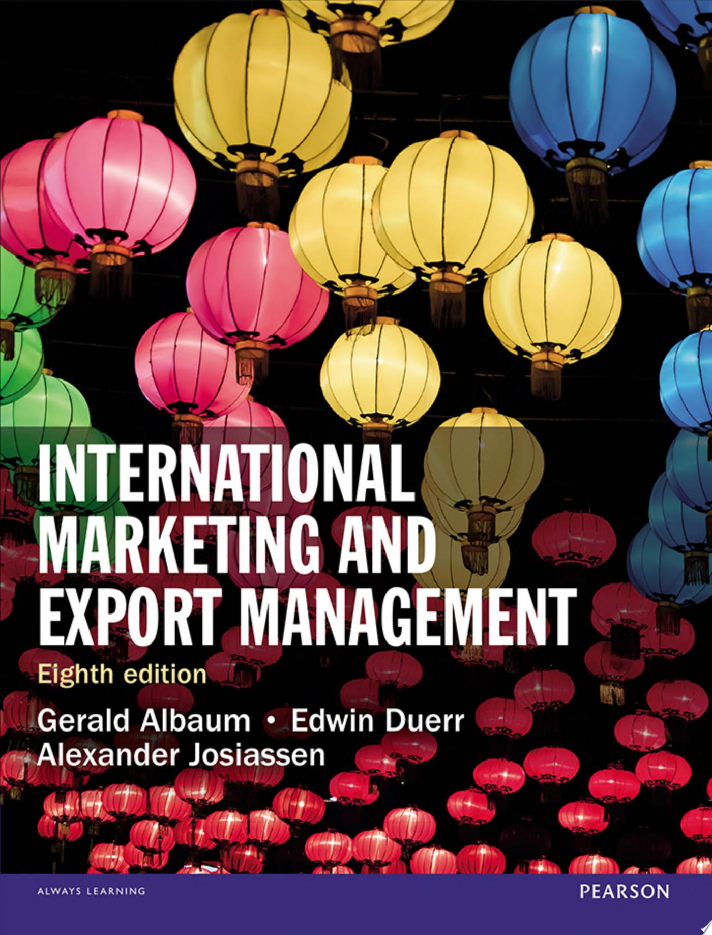 International Marketing and Export Management