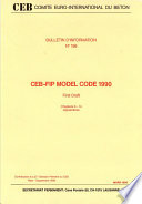 Ceb Fip Model Code 1990 First Draft Chapters 6 14