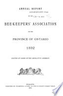Annual Report of the Bee Keepers  Association of the Province of Ontario