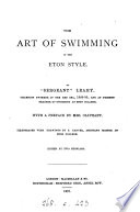 The Art of Swimming in the Eton Style