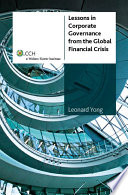 Lessons in Corporate Governance from the Global Financial Crisis Book