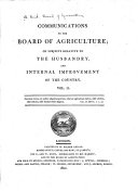 Communications to the Board of Agriculture