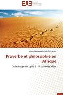 Proverbe et philosophie en Afrique