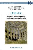 Leibniz Selon Les Nouveaux Essais Sur L'entendement Humain