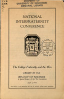 The College Fraternity and the War