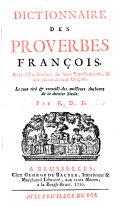 Dictionnaire des proverbes françois
