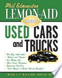 Lemon Aid Used Cars and Trucks 2012 2013