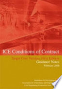 Ice Conditions Of Contract Target Cost Version First Edition