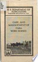 Care and Management of Farm Work Horses Book