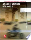 ISE Organizational Behavior: Improving Performance and Commitment in the Workplace