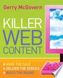 Killer Web Content Book