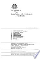 The Journal of the Institution of Engineers, Australia
