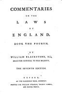 Commentaries on the Laws of England ebook