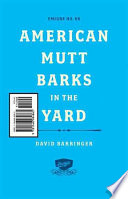American Mutt Barks in the Yard