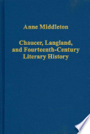 Chaucer, Langland, and Fourteenth-century Literary History