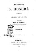 Le Faubourg-Saint-Honoré Cécile de Vareil par le comte Horace de Viel Castel