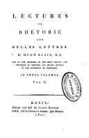 Lectures on Rhetoric and Belles Lettres  Vol  1   3  By Hugh Blair