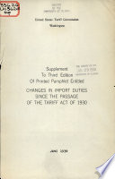 Changes in Import Duties Since the Passage of the Tariff Act of 1930