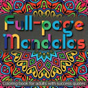Full page Mandalas   Coloring Book for Adults with Success Quotes