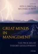 Great Minds in Management Pdf/ePub eBook