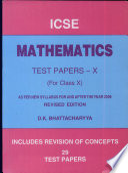 ICSE Mathematics Test Papers Class X - Google Books