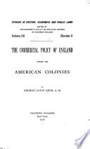 The Commercial Policy of England Toward the American Colonies Book