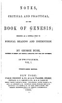 Notes, Critical and Practical, on the Book of Genesis ebook