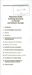 Resource Guide to Doing Business in Central and Eastern Europe