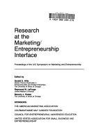 Research at the Marketing entrepreneurship Interface