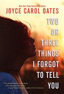 Two or Three Things I Forgot to Tell You Pdf/ePub eBook