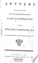Henrietta Knight, Lady Luxborough