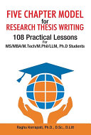 Five Chapter Model for Research Thesis Writing