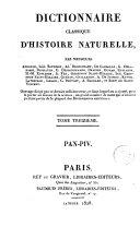 Dictionnaire classique d'histoire naturelle, 13