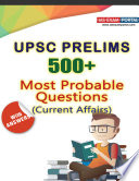 500  Most Probable Questions for UPSC Prelims 2020