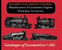 Baldwin Locomotive Works Illustrated Catalog
