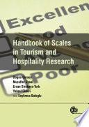 """Handbook of Scales in Tourism and Hospitality Research"" by Dogan Gursoy, Muzaffer Uysal, Ercan Sirakaya-Turk, Yuksel Ekinci, Seyhmus Baloglu"