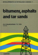 Pdf Bitumens, asphalts, and tar sands