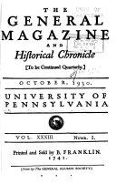 The General Magazine and Historical Chronicle